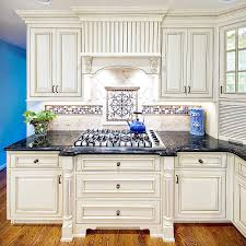 White Kitchen Cabinets With Black Granite Countertops Images Kitchen