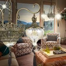 oriental chandelier light Ø730mm orient amber brass golden lamp arabic moroccan