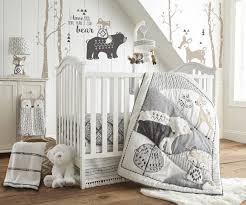 Levtex Baby Bailey Charcoal and White Woodland Themed 5 Piece Crib ... & Levtex Baby Bailey Charcoal and White Woodland Themed 5 Piece Crib Bedding  Set Adamdwight.com