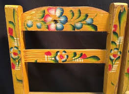painted mexican furnitureAdult Hand Painted Mexican Folk Art Chair RARE Local Pick Up