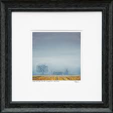 12x12 framed signed giclée fine art print of the painting foggy morning cross