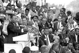 mlks i have a dream speech first delivered at nc gym   ny  martin luther king jr gestures during his i have a dream speech as he addresses thousands of civil rights supporters gathered in washington dc on aug