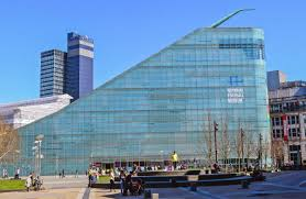 architecture buildings around the world. The Slide-like Urbis Building In Manchester, UK, Contains A National Football Museum. Architecture Buildings Around World