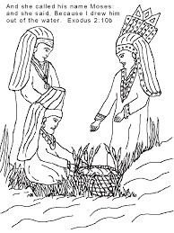 Small Picture Moses Coloring Page