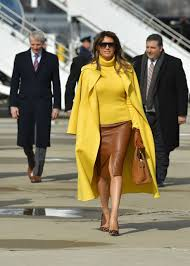 Melania Trump Yellow Dress Designer Melania Trump Wore A Bold Yellow Cape To Meet With Prince