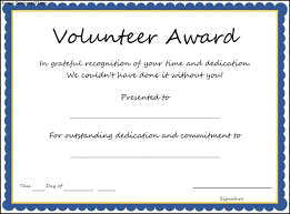 Volunteer Of The Year Certificate Template Best Professional