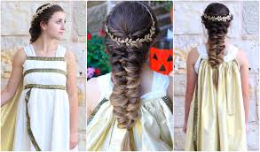 Goddess Hair Style Twist Faux Braid Greek Goddess Halloween Hairstyles Youtube 7674 by wearticles.com
