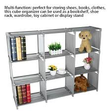 details about 9 grid assembled diy storage rack open bookcase creative cabinet storage rack us