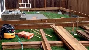 wood deck building a wood deck building a wood deck over a