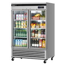 turbo air tsr 49gsd n new maximum glass door refrigerator two