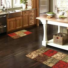 now that you have succeeded in positioning your coffee kitchen rug you can step back and take a look while looking at the accent colors and the color of