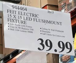 feit led flat panel light fixture 15 x costco weekender