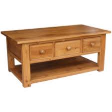 rustic pine coffee table 3 drawer