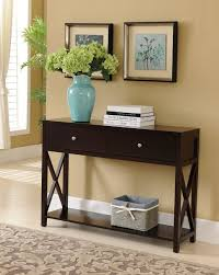 high console table. Furniture:Cream Console Table Cream With Oak Top Drawers Ireland Shabby Chic Baskets High N