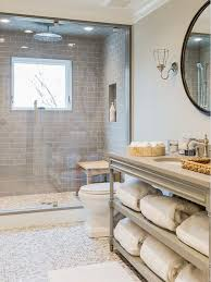 white bathroom cabinets gray walls. homebunch. neutral bathroomopen bathroom vanitymaster shower tilewhite subway tile showerbathroom feature wallgray white cabinets gray walls a