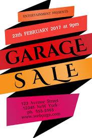 Garage Sale Flyer Poster Social Media Post Template Garage Sale