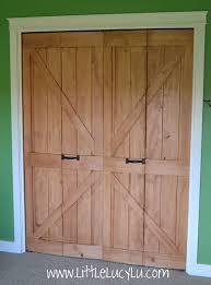 little lucy lu from bi fold to barn doors max s closet
