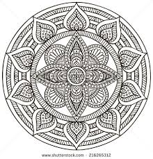 Mandala Round Ornament Pattern Vintage decorative elements Hand