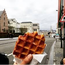 i ate many belgian wafflesimage
