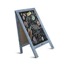 chalkboard sidewalk sign diy rustic vintage blue a frame large x s