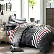 grey and red stripes printing 4pc bedding set queen bed duvet quilt covers bedclothes pillow queen queen size