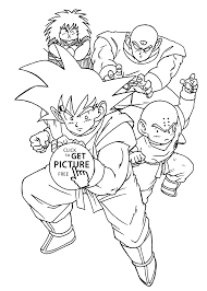 Cool Manga Dragon Ball Z Coloring Pages For Kids Printable Free With