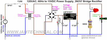 circuit diagram 15v dc power supply the wiring diagram regulated 120v ac to 15v dc power supply using voltage regulator wiring diagram