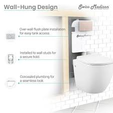 swiss madison concealed in wall toilet