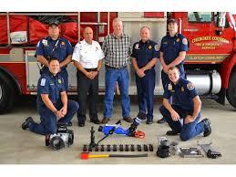 clayton volunteer fire department donates over 7 700 in equipment