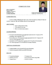 Resume Models In Word Format Resume Formats For Freshers Download