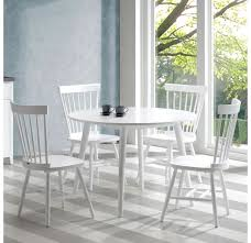 chicago round dining table white