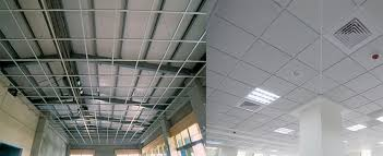 office false ceiling. Gypsum Suspended Tile For Ceiling Office False