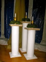 build sy pillars from s bought at the hardware and within how to columns for