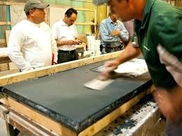 pour in place concrete countertop how to build concrete countertops in place with pour in place