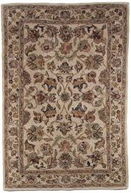 brown beige gold green traditional persian hand tufted wool area rug antique 5x8