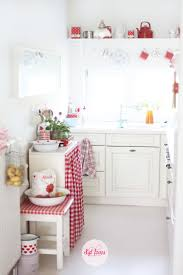 White Kitchen With Red Accents 25 Best Ideas About Red Kitchen Curtains On Pinterest Kitchen
