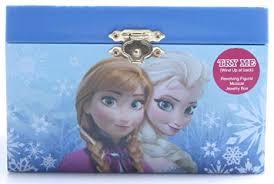 amazon disney frozen elsa and anna jewelry box blue home kitchen