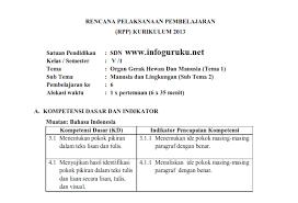 Download contoh perangkat pembelajaran k13 dan ktsp sd bahasa jawa | rencana pelaksanaan pembelajarn (rpp). Download Contoh Rpp Daring Kelas 5 Sd 2020 2021 Infoguruku