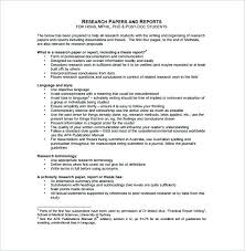 Essay Style Format Template Outline Templates Research Word