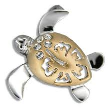 hawaiian jewelry gifts collection silver yellow 2 toned hibiscus honu pendant l