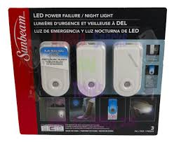 Sunbeam Night Light Power Failure Blue Led Turns On With Lack Of Ambient Light Turns Off When