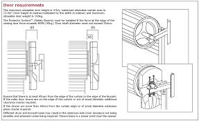 roller garage door requirements