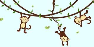 jungle wall decals for nursery jungle wall decals monkey wall decals for nursery