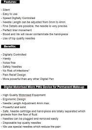 professional micropigmentation tattoo machine pmu machine permanent makeup pen em4501