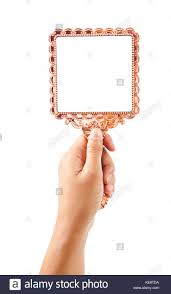 hand holding antique mirror. Exellent Mirror Beautiful Vintage Mirror For Makeup In Woman Hand Isolated On White  Background Save Clipping Path To Hand Holding Antique Mirror O