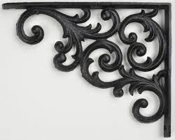 wall shelf bracket ornate pattern cast