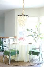 pottery barn chandeliers s clarissa round chandelier installation mica shade