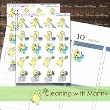 Cleaning Planner Stickers Chores Laundry Stickers Garbage Stickers Vacume Dusting Trash Day Stickers Chore Chart Planner Stickers Dog 202