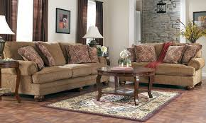 Round Living Room Chair Living Room Design With Cream Linen Love Seat And Dark Brown Side