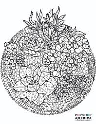 Our coloring pages are free and classified by theme, simply choose and print your drawing to color for hours! Free Adult Coloring Book Pages With Succulent Terrariums